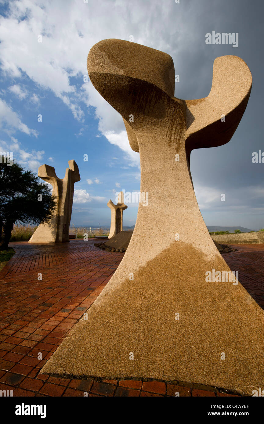 Anglo Boer War memorial to the Boers on Wagon Hill, Ladysmith, South Africa - Stock Image