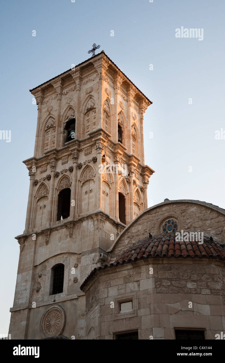 The bell tower of the Church of Saint Lazarus in Larnaca, Cyprus. - Stock Image
