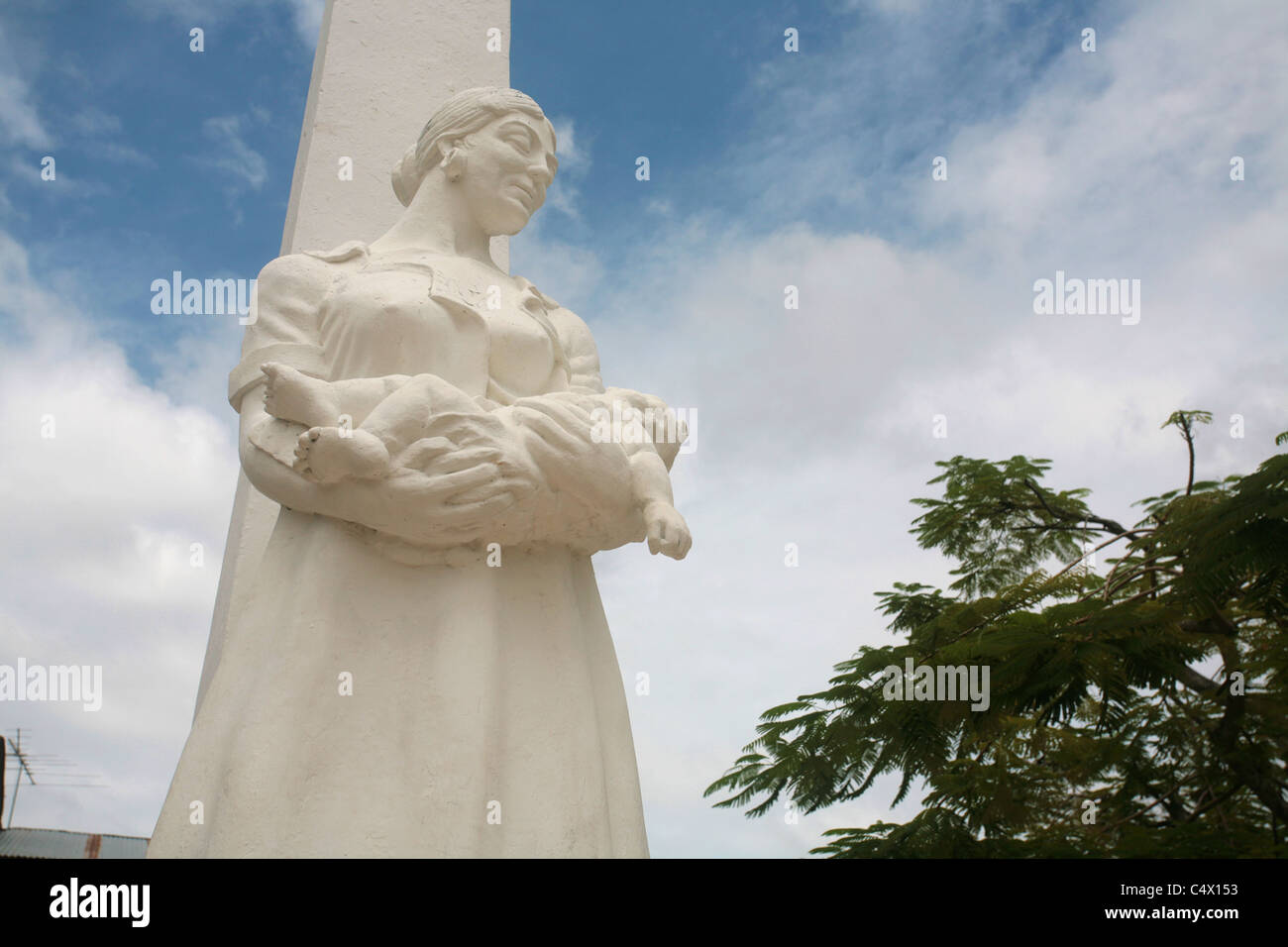 Monument dedicated to motherhood in Penonome town of Cocle, Panama, Central America. - Stock Image