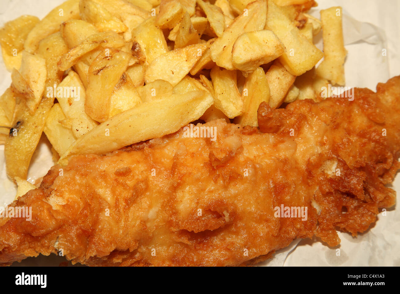 Traditional English fish & chips. - Stock Image