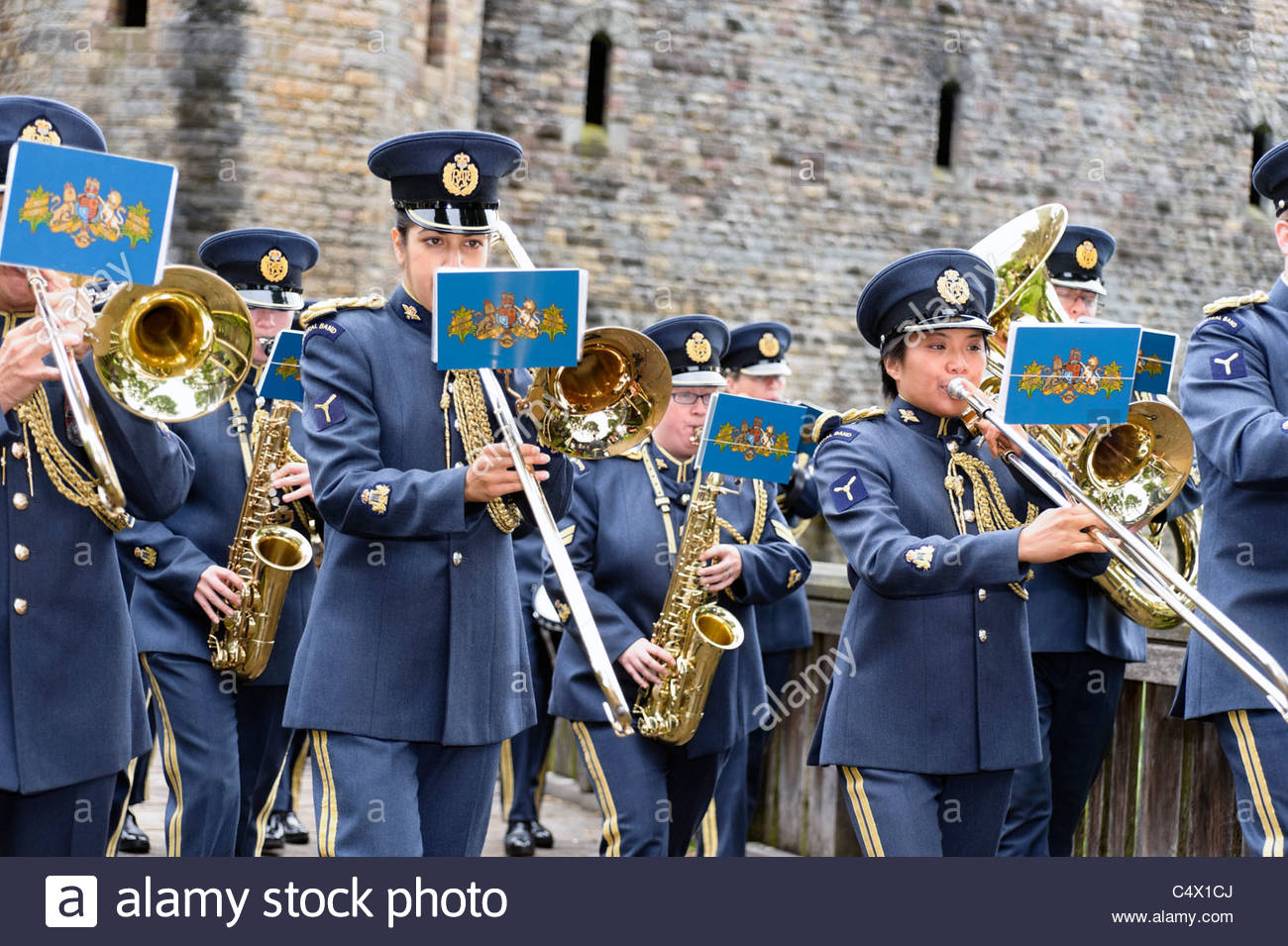 RAF band, Armed Forces Day, Bute Park, Cardiff, Wales, UK. - Stock Image