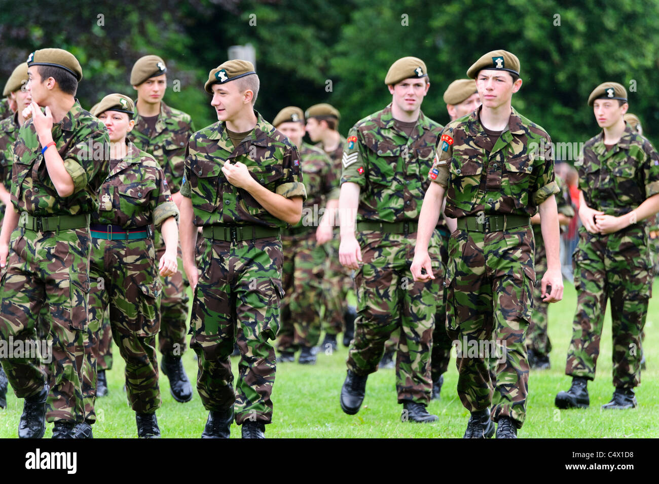ACF Army Cadet Force boys & girls, Armed Forces Day, Bute Park, Cardiff, Wales, UK. - Stock Image