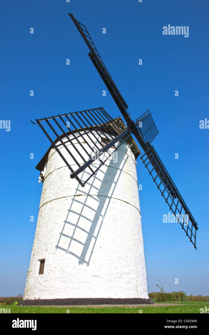 Ashton Windmill, Chapel Allerton, Axbridge, Somerset - Stock Image