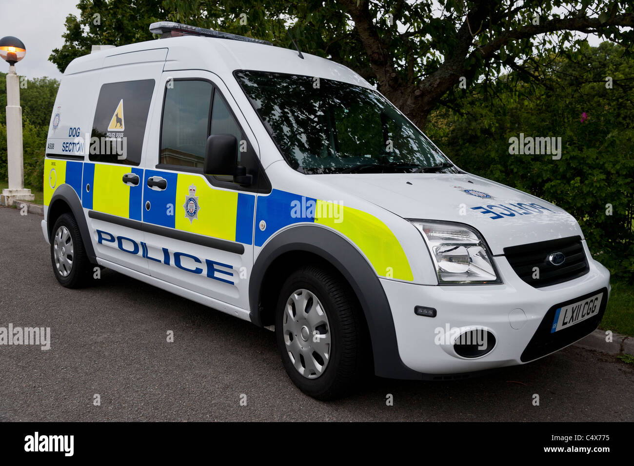 A Ford Connect British Transport Police Dog Van Stock Photo