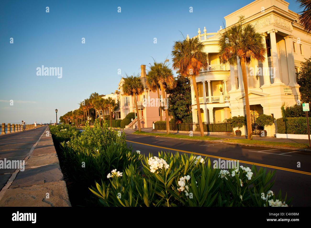 Historic homes along the Battery in Charleston, SC - Stock Image
