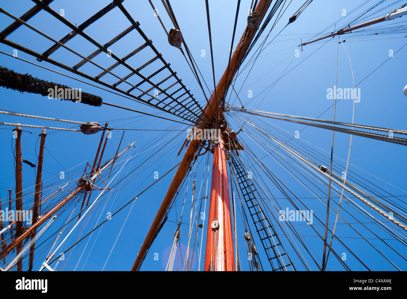 Sail ship mast - Stock Image