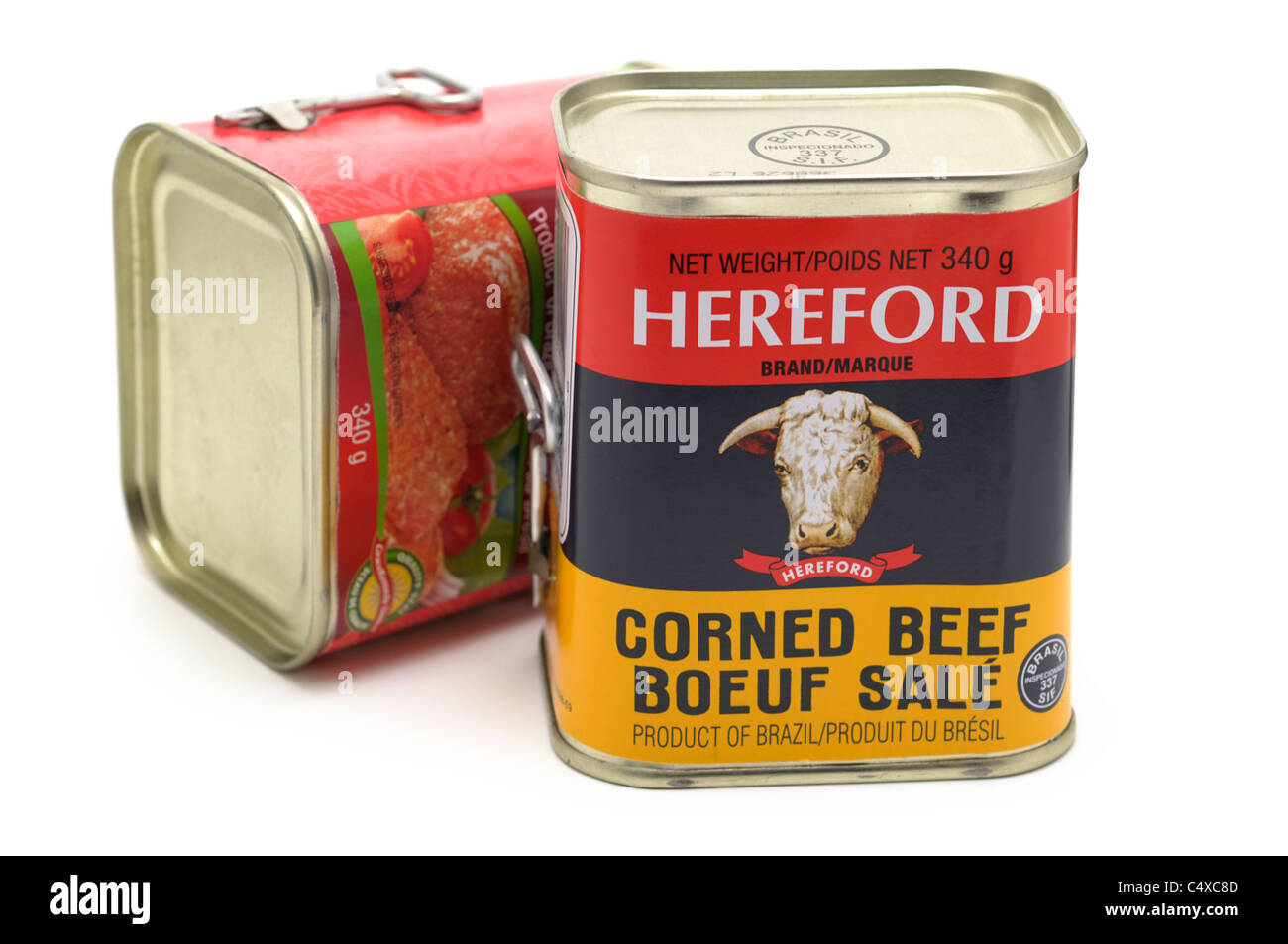 Corned Beef, Tinned / Canned - Stock Image