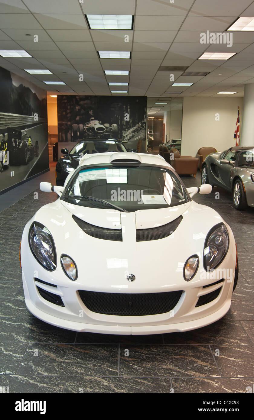 Galpin Motor's Club Aston Martin showroom. - Stock Image