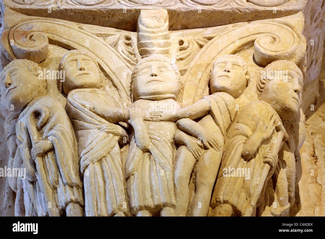 Romanesque church of San Martin de Tours, Fromista, Valladolid, Castile and Leon, Spain - Stock Image
