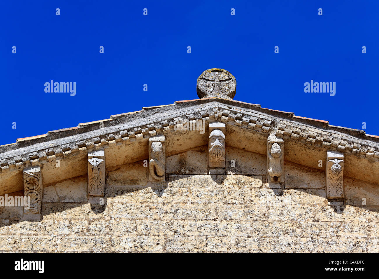 Romanesque church of San Martin de Tours, Fromista, Valladolid, Castile and Leon, Spain - Stock Image