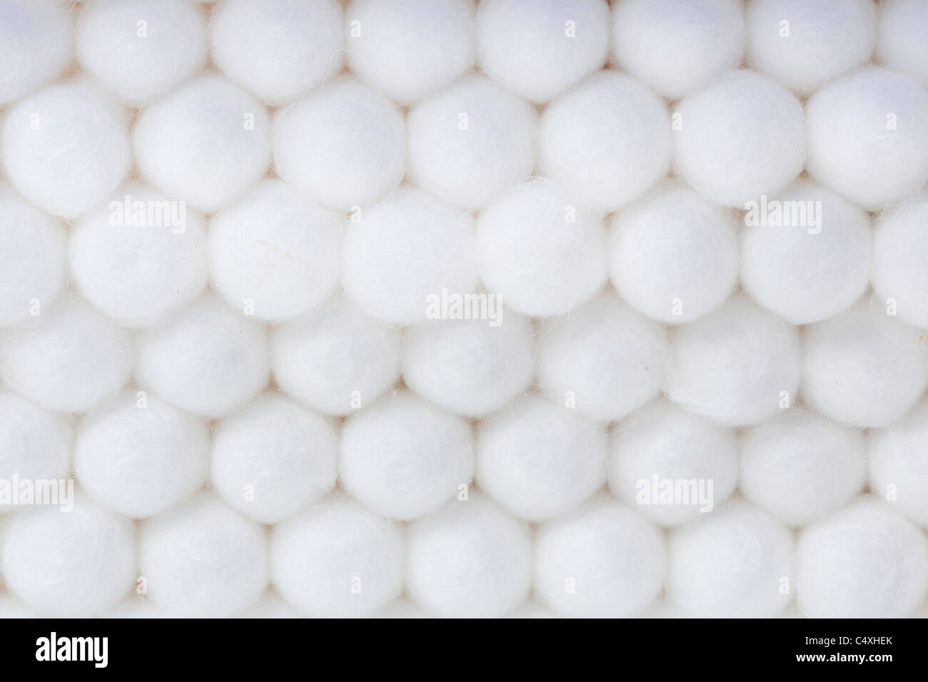 A group of cotton swabs against a white background Stock Photo