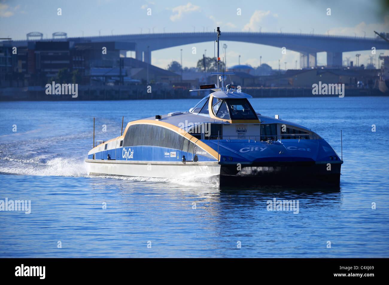 Brisbane Citycat ferry Queensland Australia - Stock Image