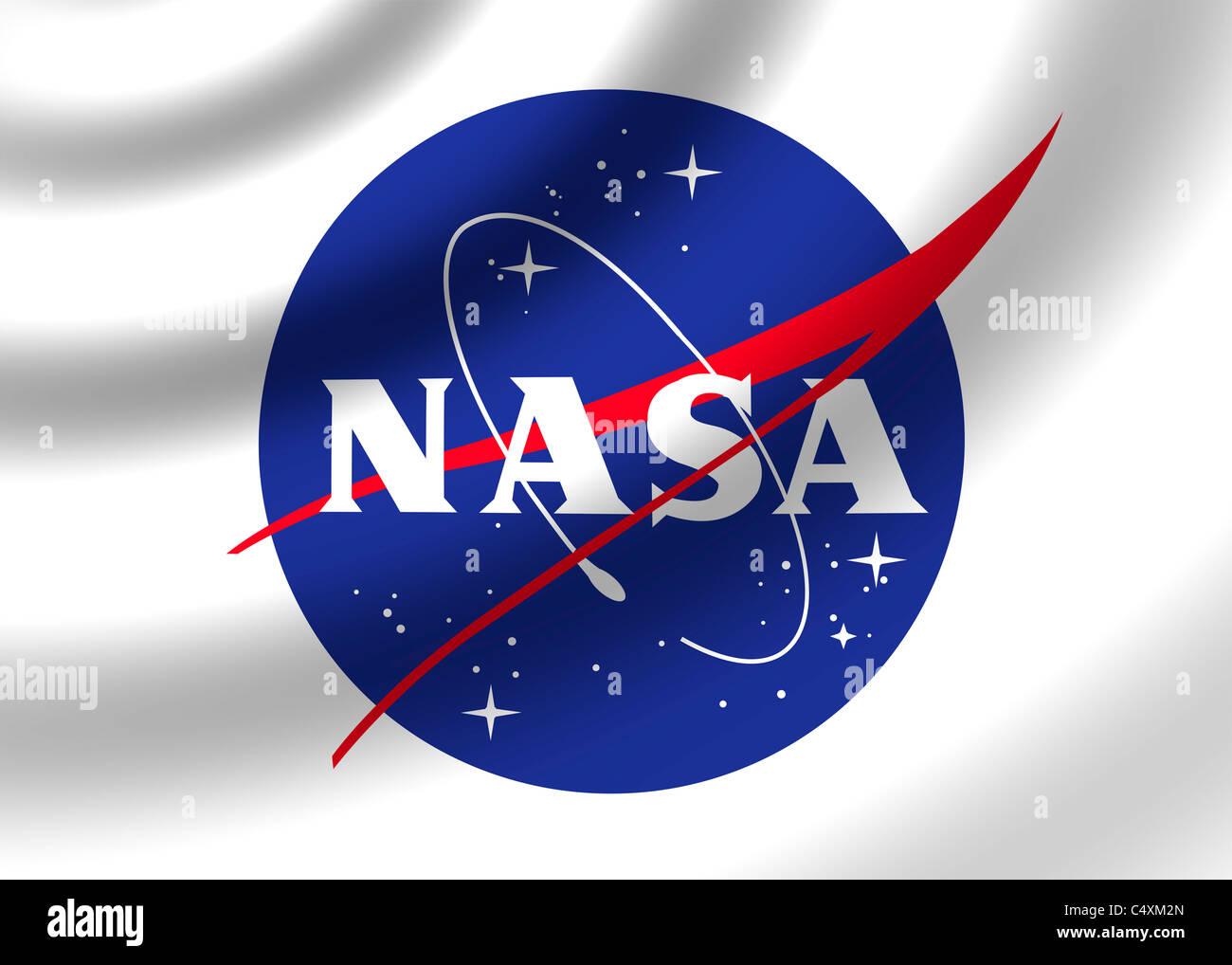 NASA logo flag symbol - Stock Image