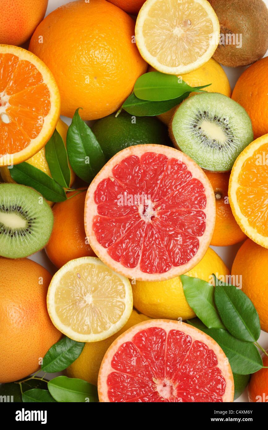 Fresh fruit for use as Background - Stock Image