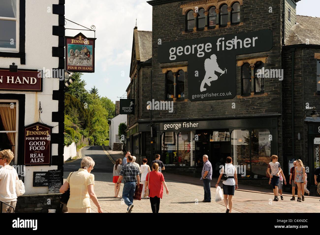 Keswick town centre - Stock Image