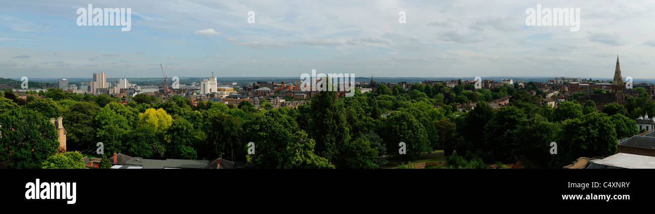 Nottingham city centre skyline - Stock Image