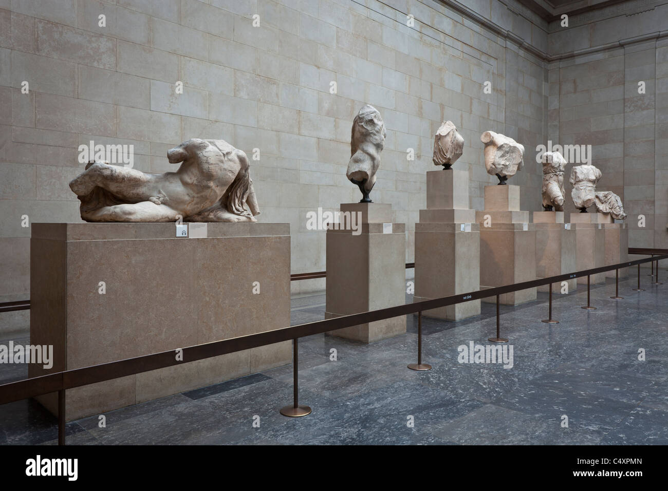 The Parthenon's East Pediment. Fragments in London. - Stock Image