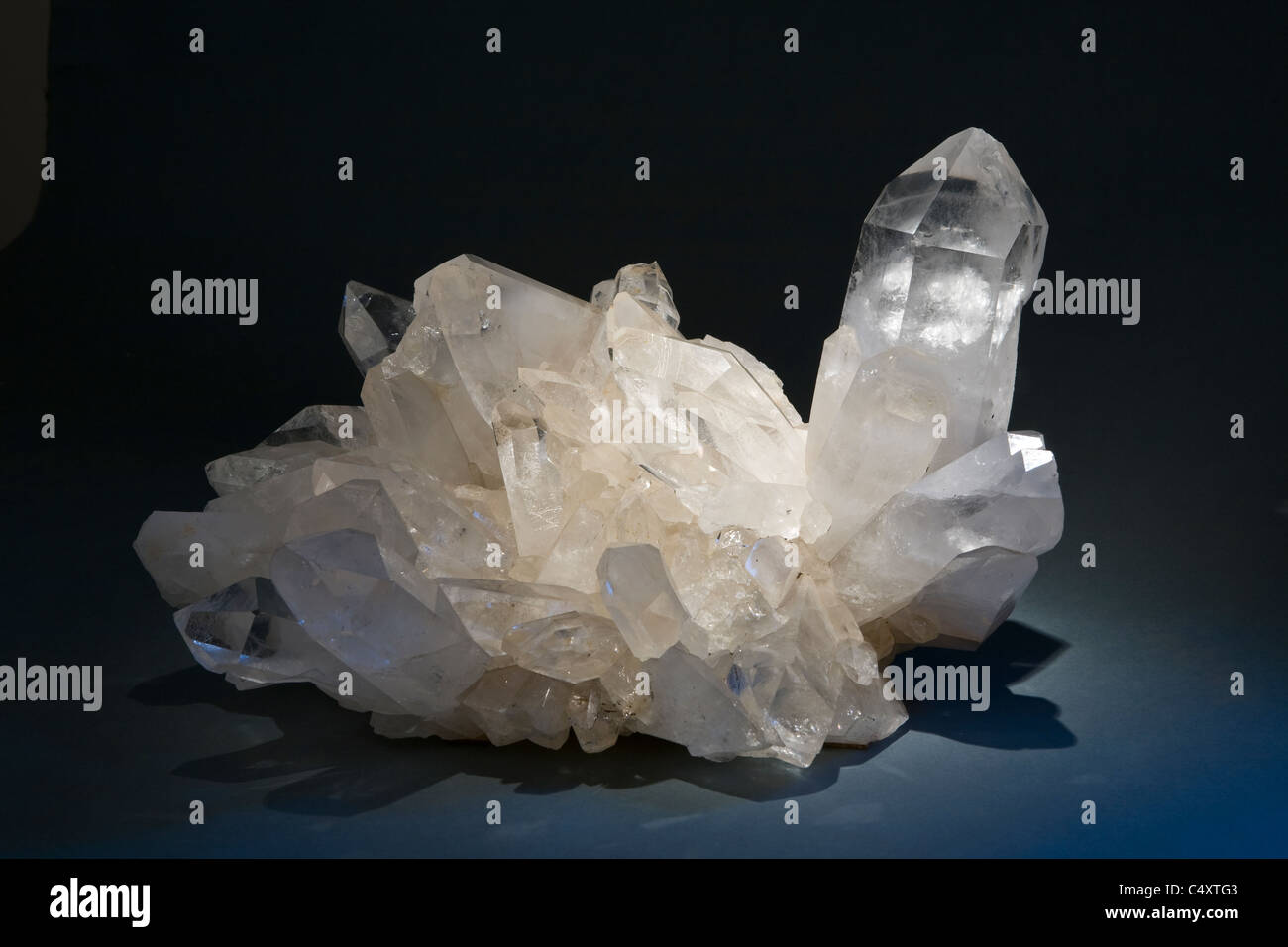 Rock crystal aggregate, Brazil - Stock Image