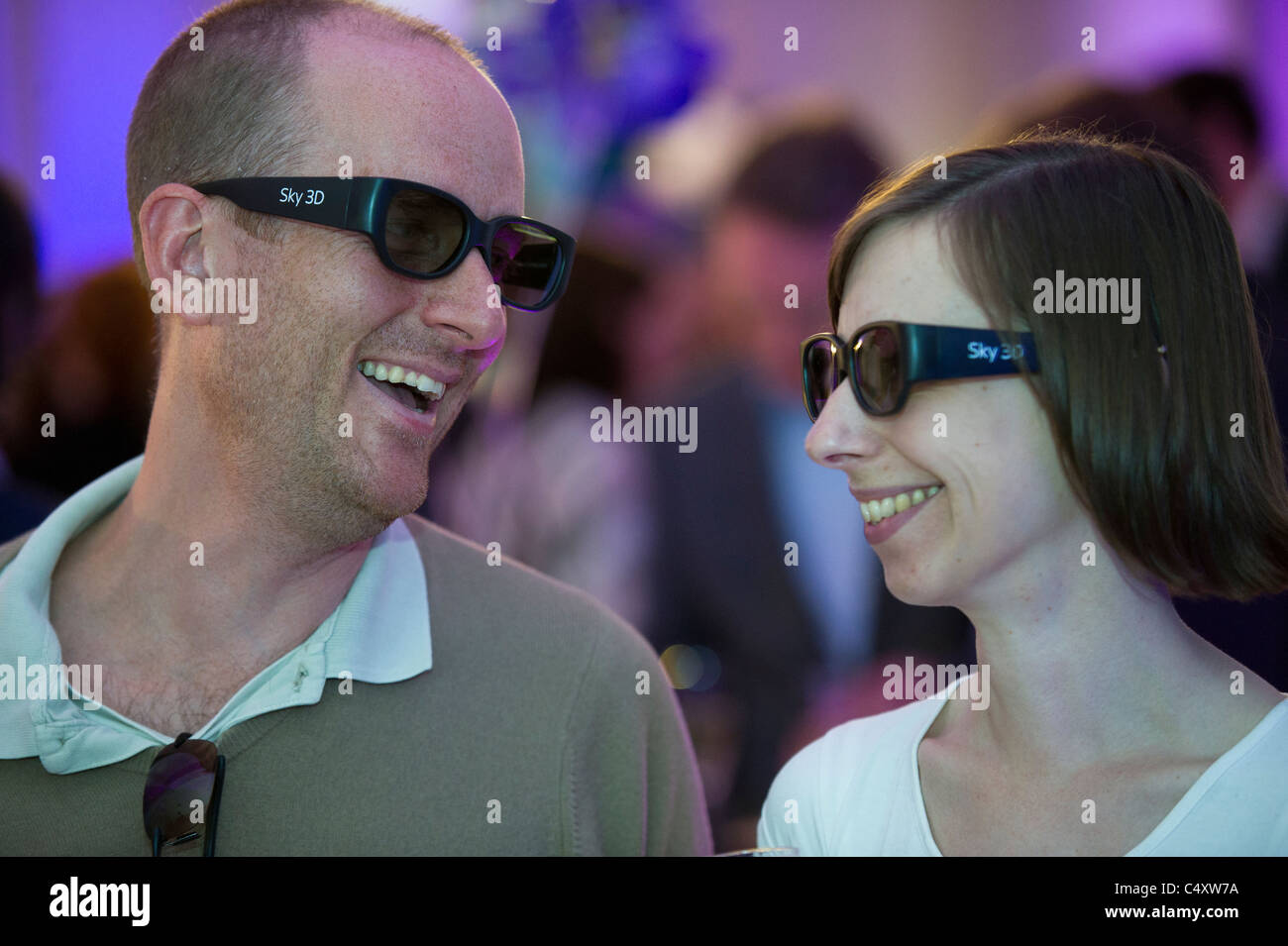 2ed5533f7b4 wearing 3D glasses watching tv television Stock Photo  37469918 - Alamy