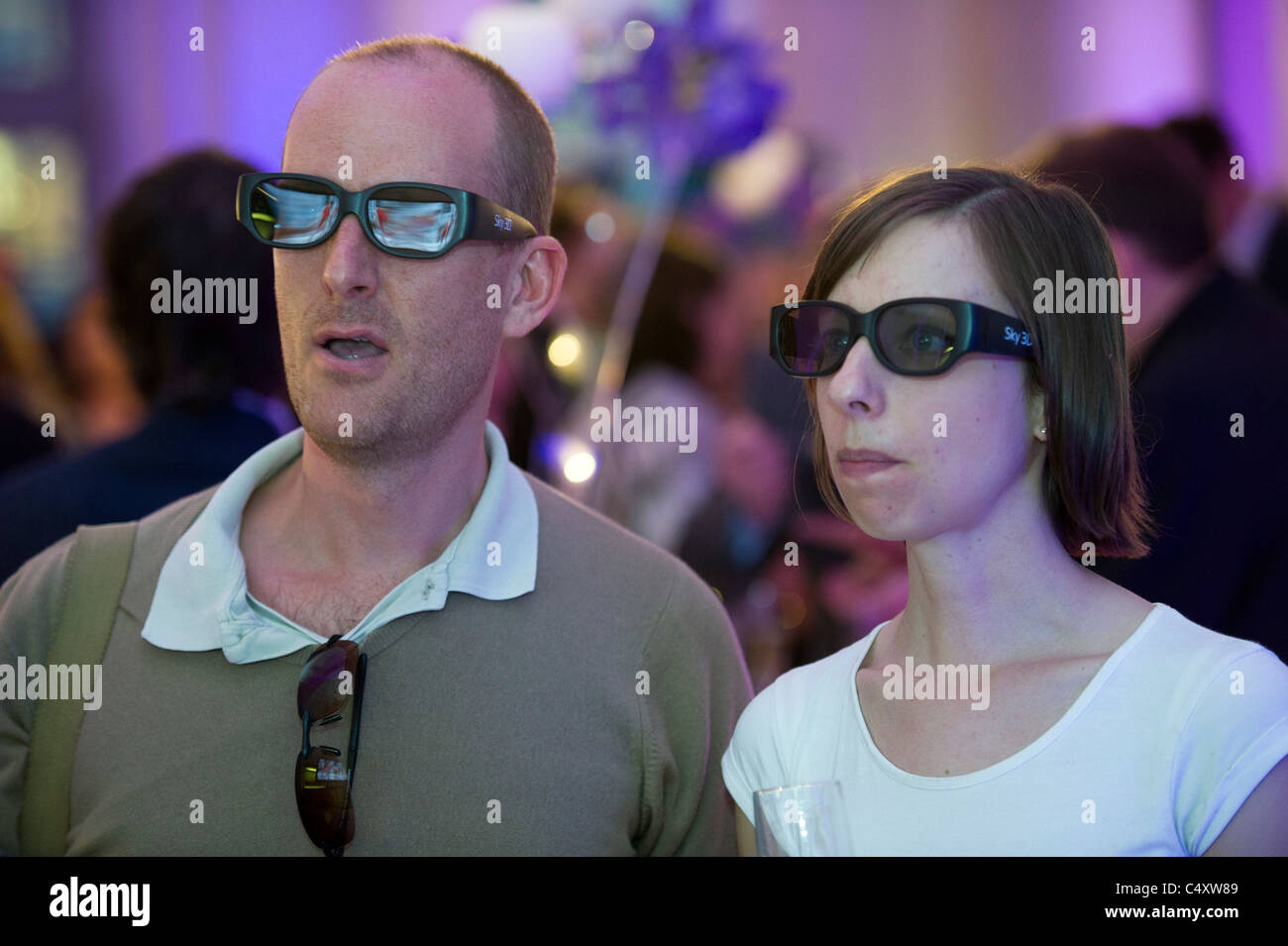 8c2e8cd3009 wearing 3D glasses watching tv television Stock Photo  37469945 - Alamy
