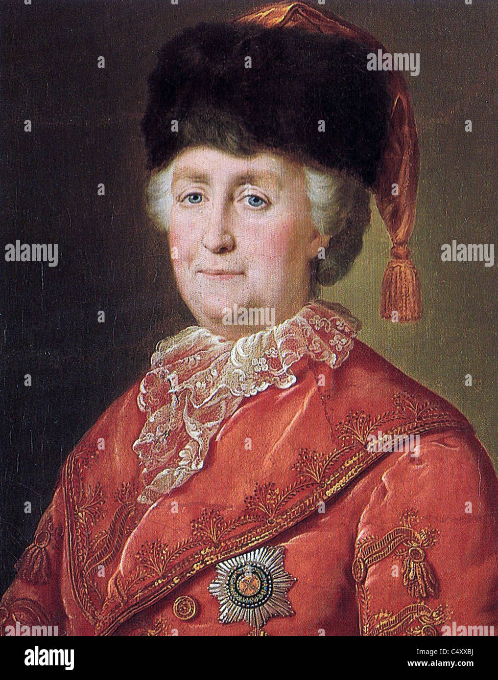Empress Catherine II of Russia, Catherine the Great. - Stock Image