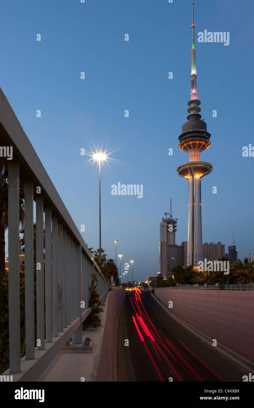 Kuwait Telecommunications Tower - Stock Image