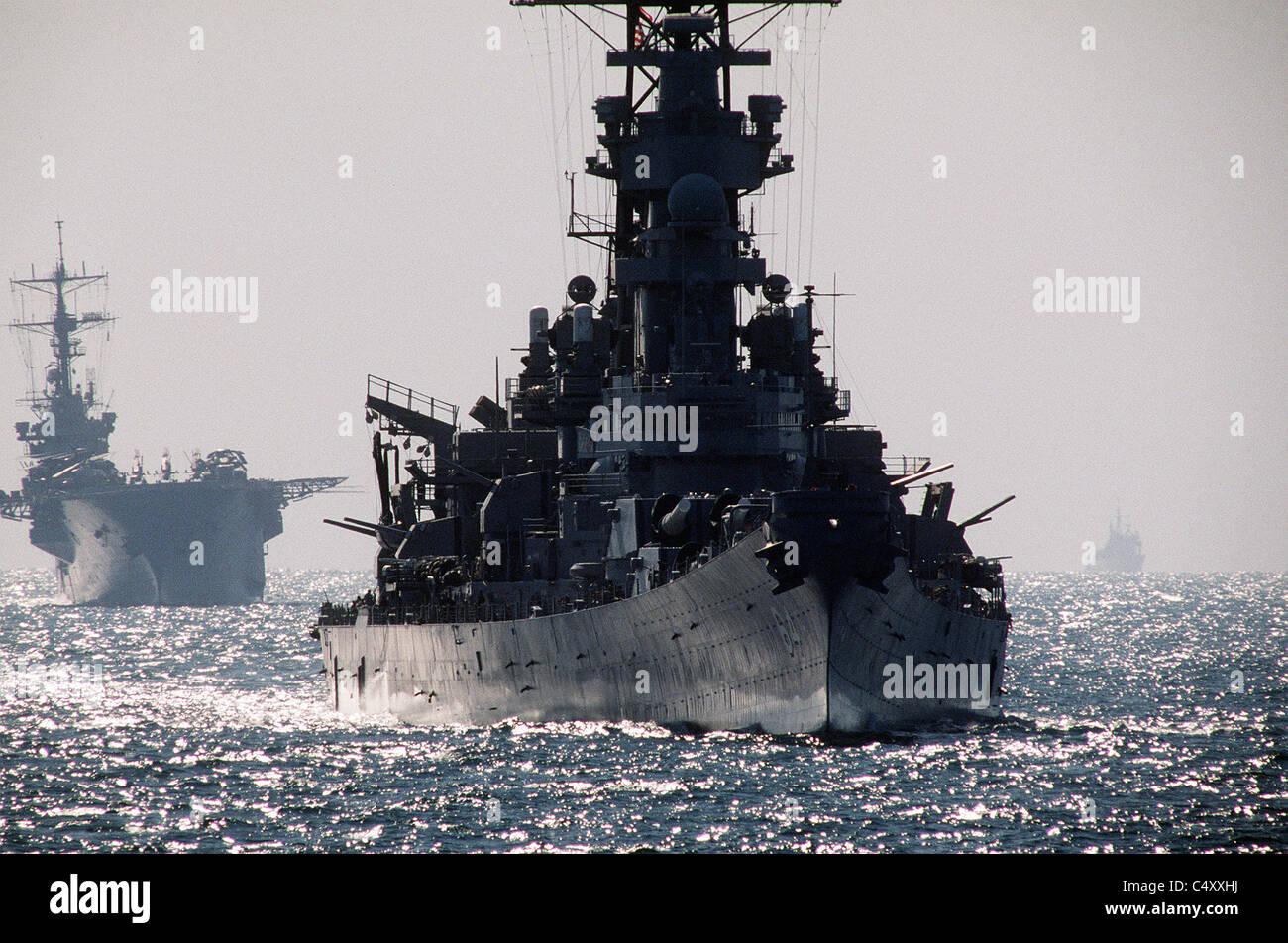 USS Wisconsin battleship - Stock Image