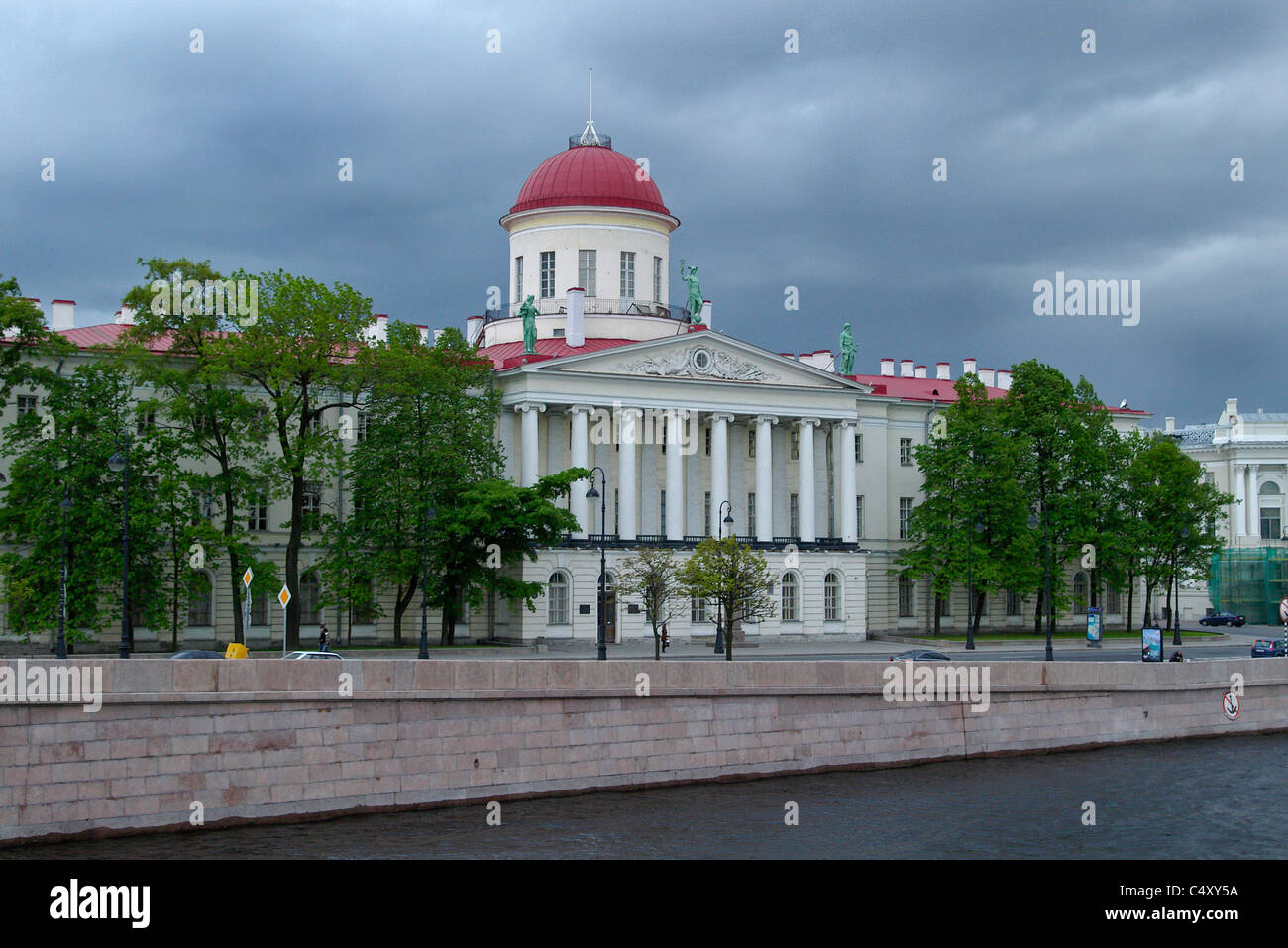 Russia. St. Petersburg. Academy of Sciences Institute of Russian Literature (Pushkin House). - Stock Image
