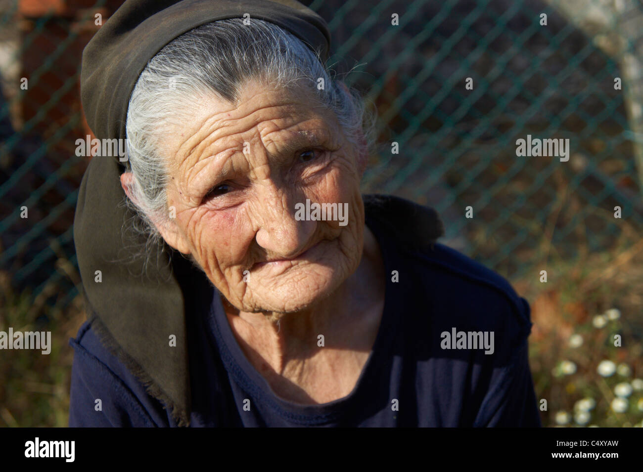 Portrait of an elderly woman Stock Photo