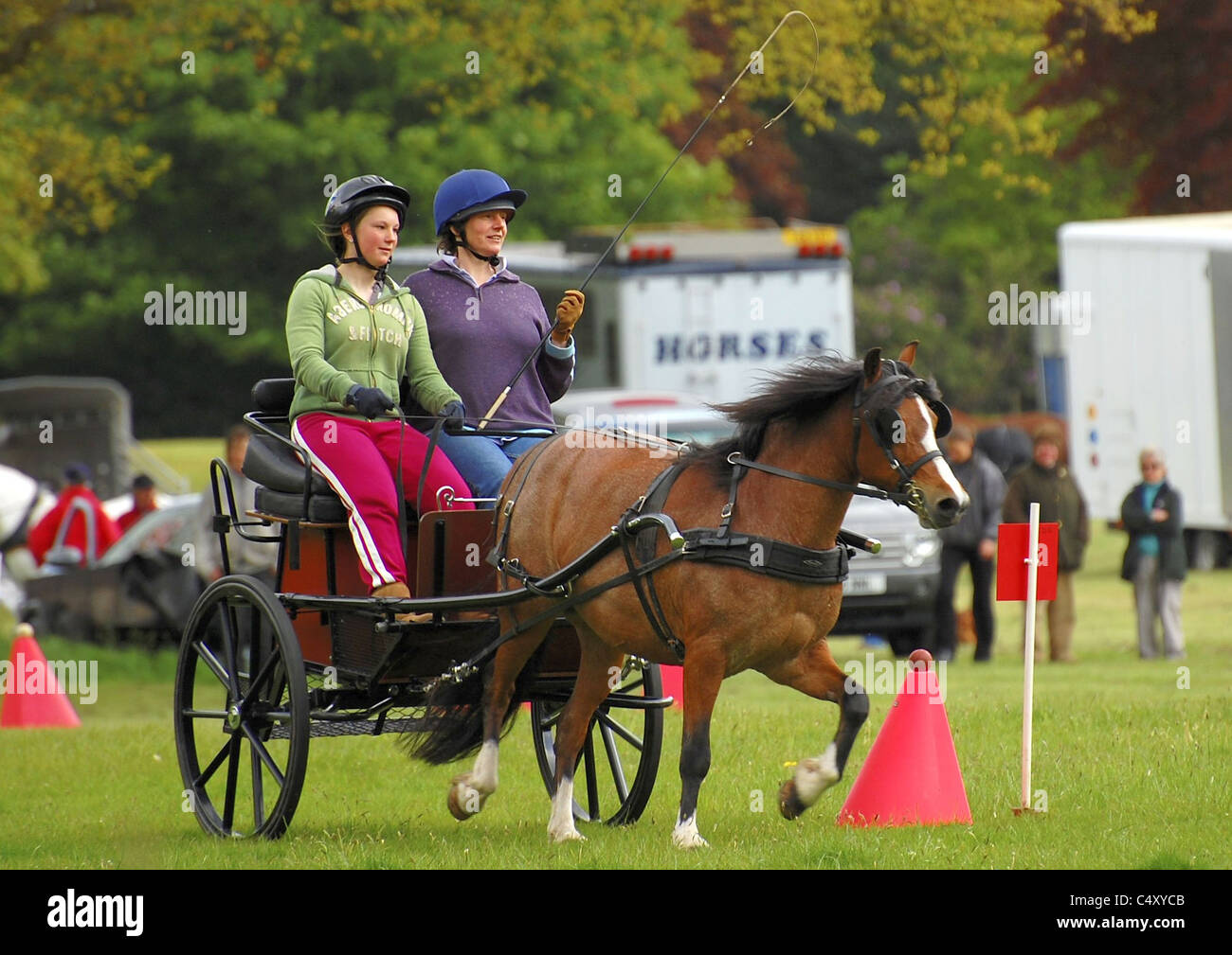 two 2 seater Carriage Competitors - Stock Image