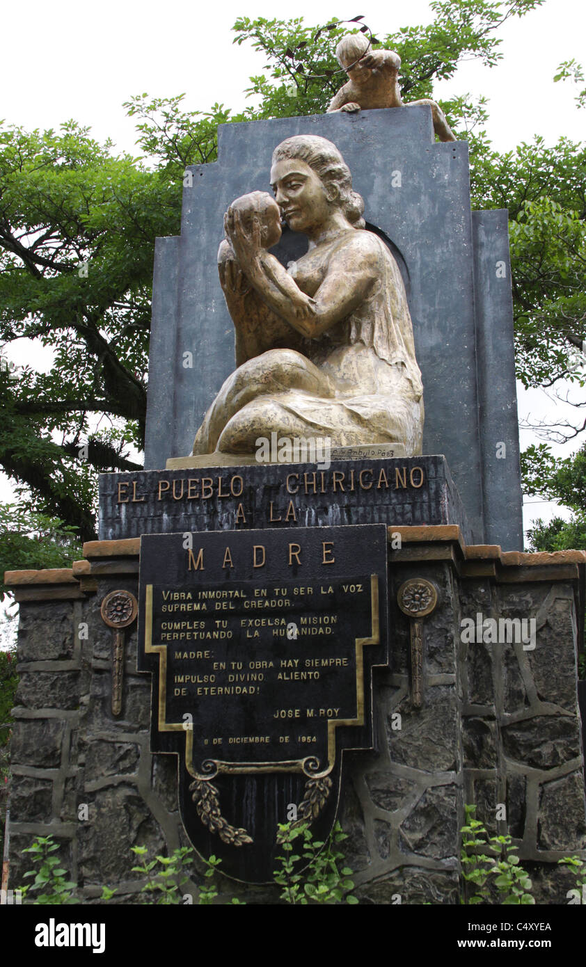 Monument dedicated to motherhood in David,  town of Chiriqui, Panama, Central America. - Stock Image