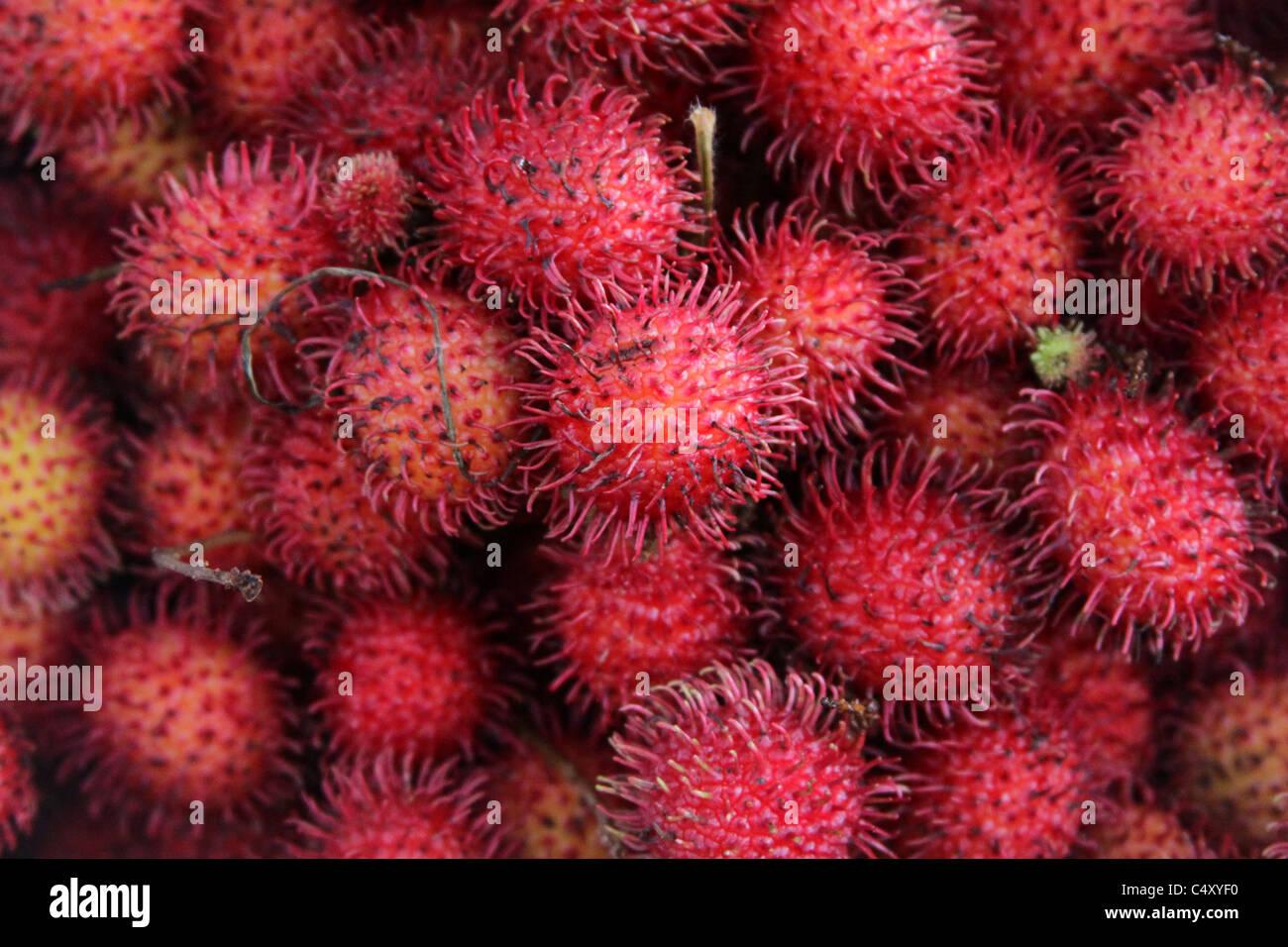 Lychee fruits. - Stock Image