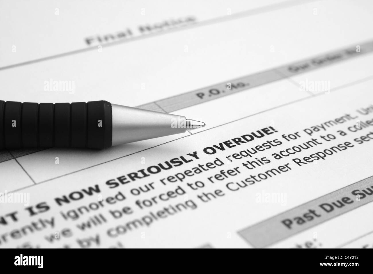 Overdue account - Stock Image