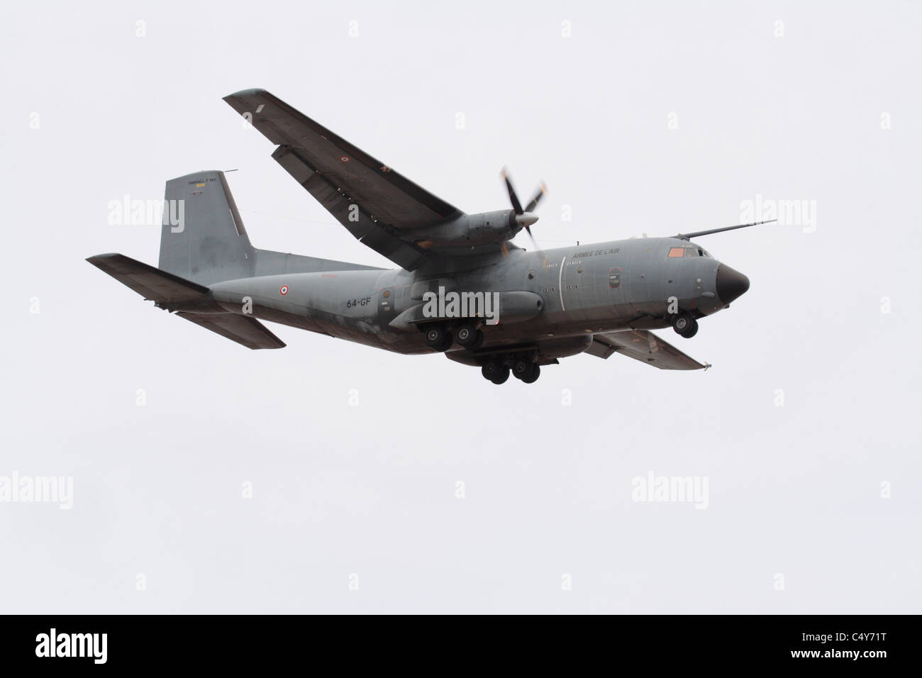 French Air Force Transall C-160 tactical airlifter - Stock Image