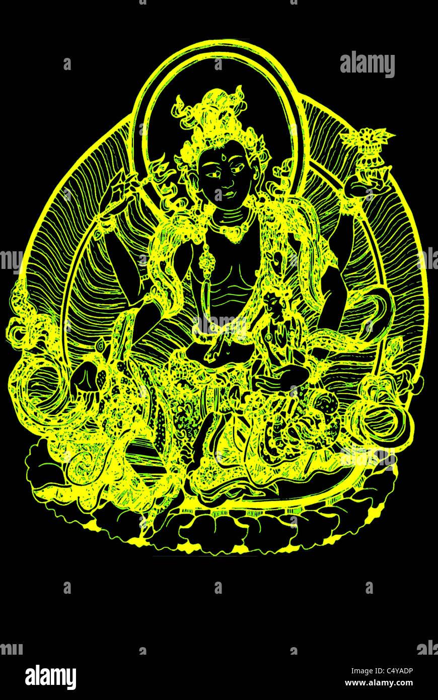 Avalokiteshvara with Gita - Stock Image
