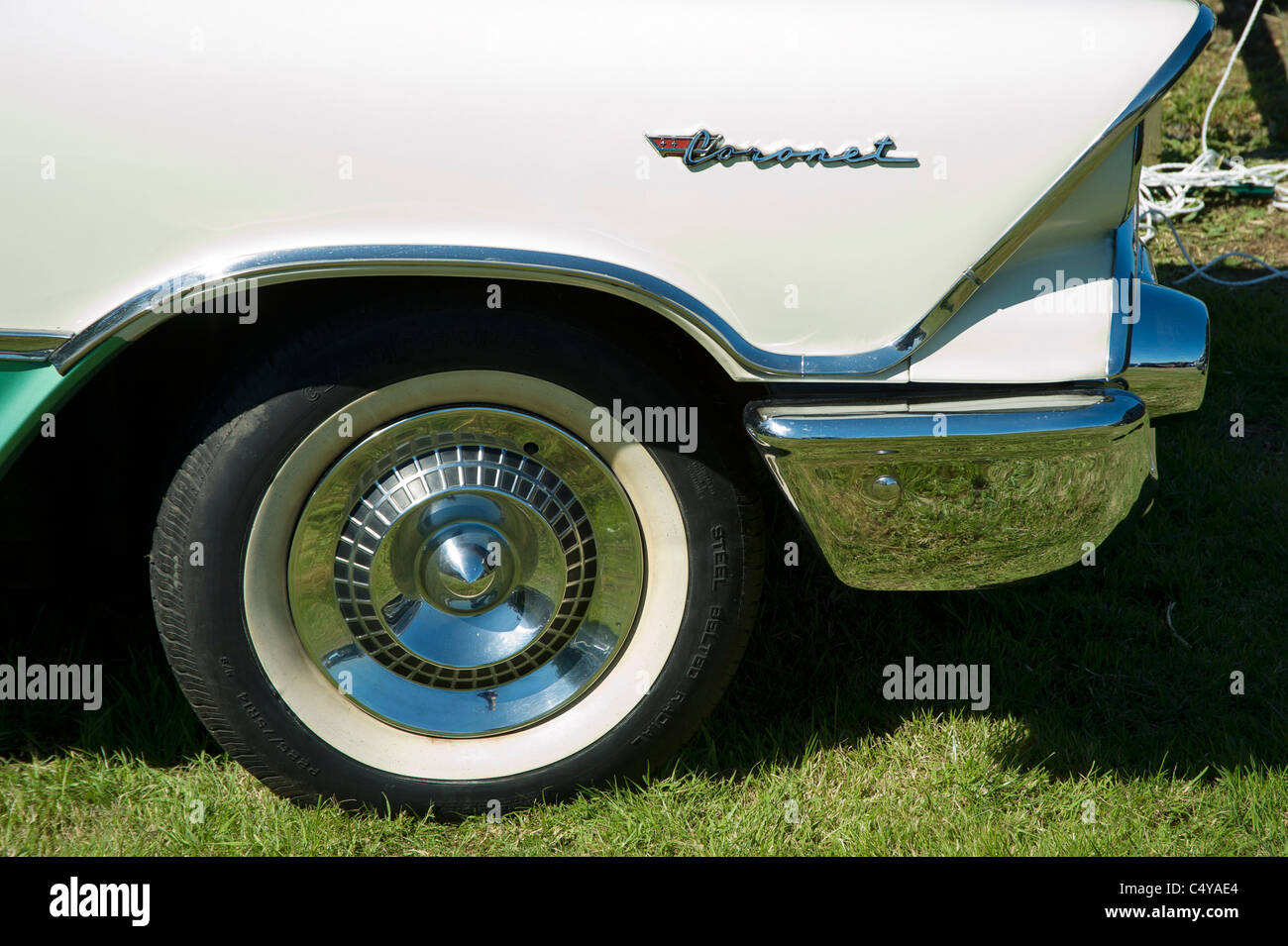 1950s Dodge Coronet white front wing - Stock Image