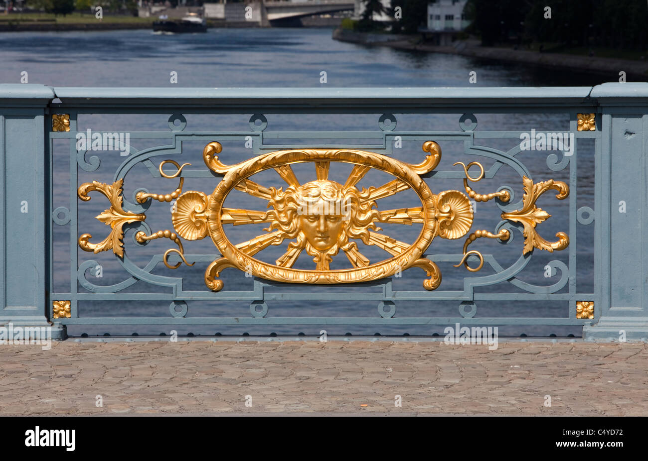 Pont de Fragnée bridge over the Meuse, Liège, Wallonie, Belgium, Europe - Stock Image