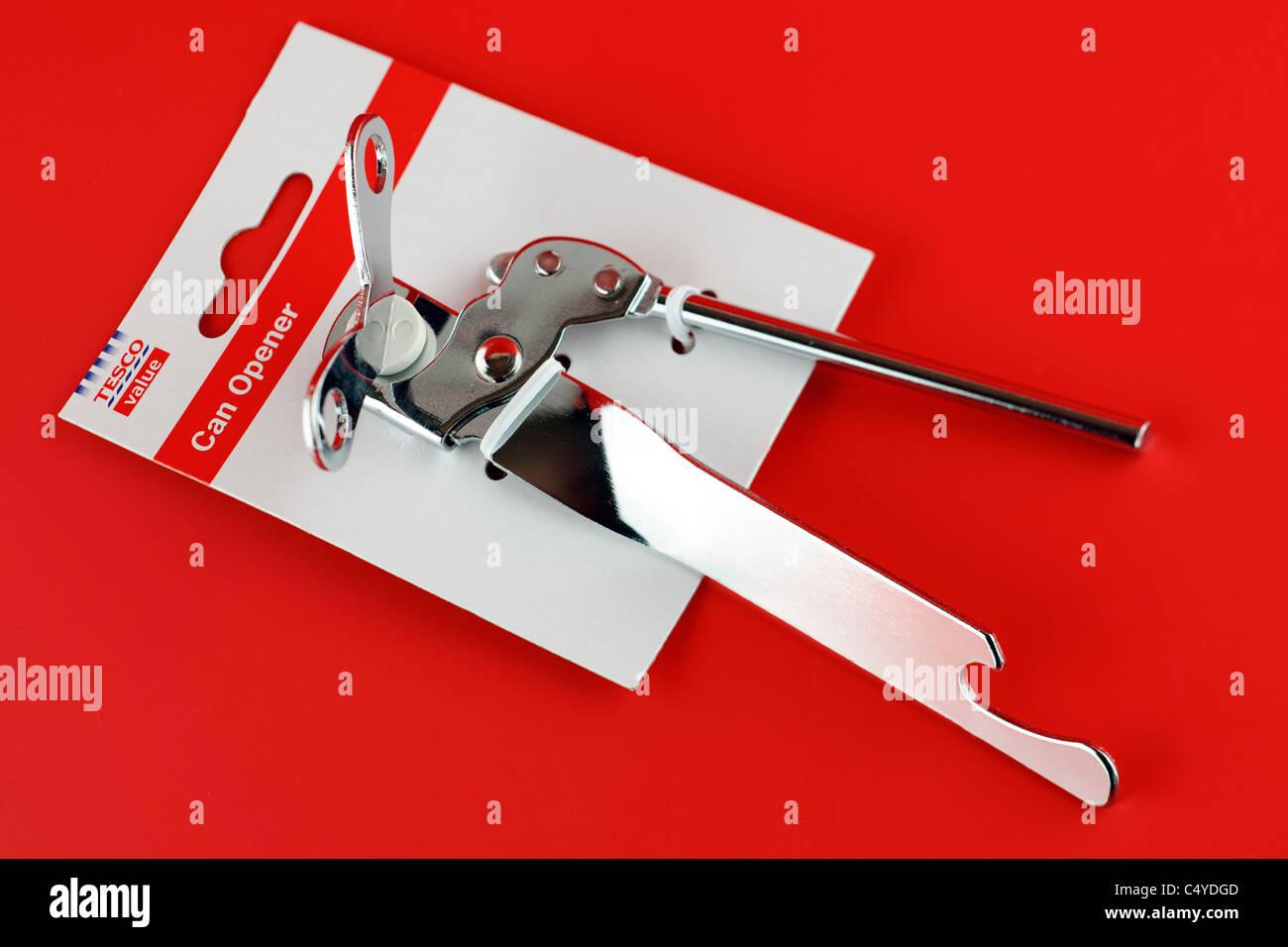 Tesco can opener - Stock Image