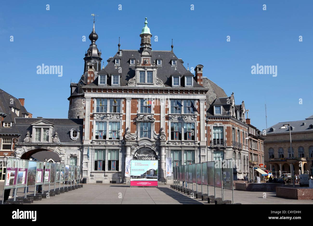The trade exchange from 1932, Neo-Renaissance, now congress centre, Namur, Wallonia, Belgium, Europ - Stock Image