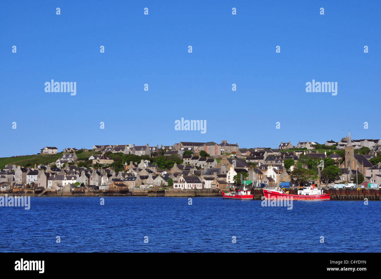 Town of Stromness on Mainland, Orkney, Scotland. Stock Photo