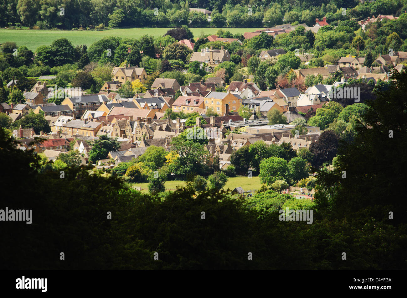 cotswold village cotswolds villages glocestershire Stock Photo