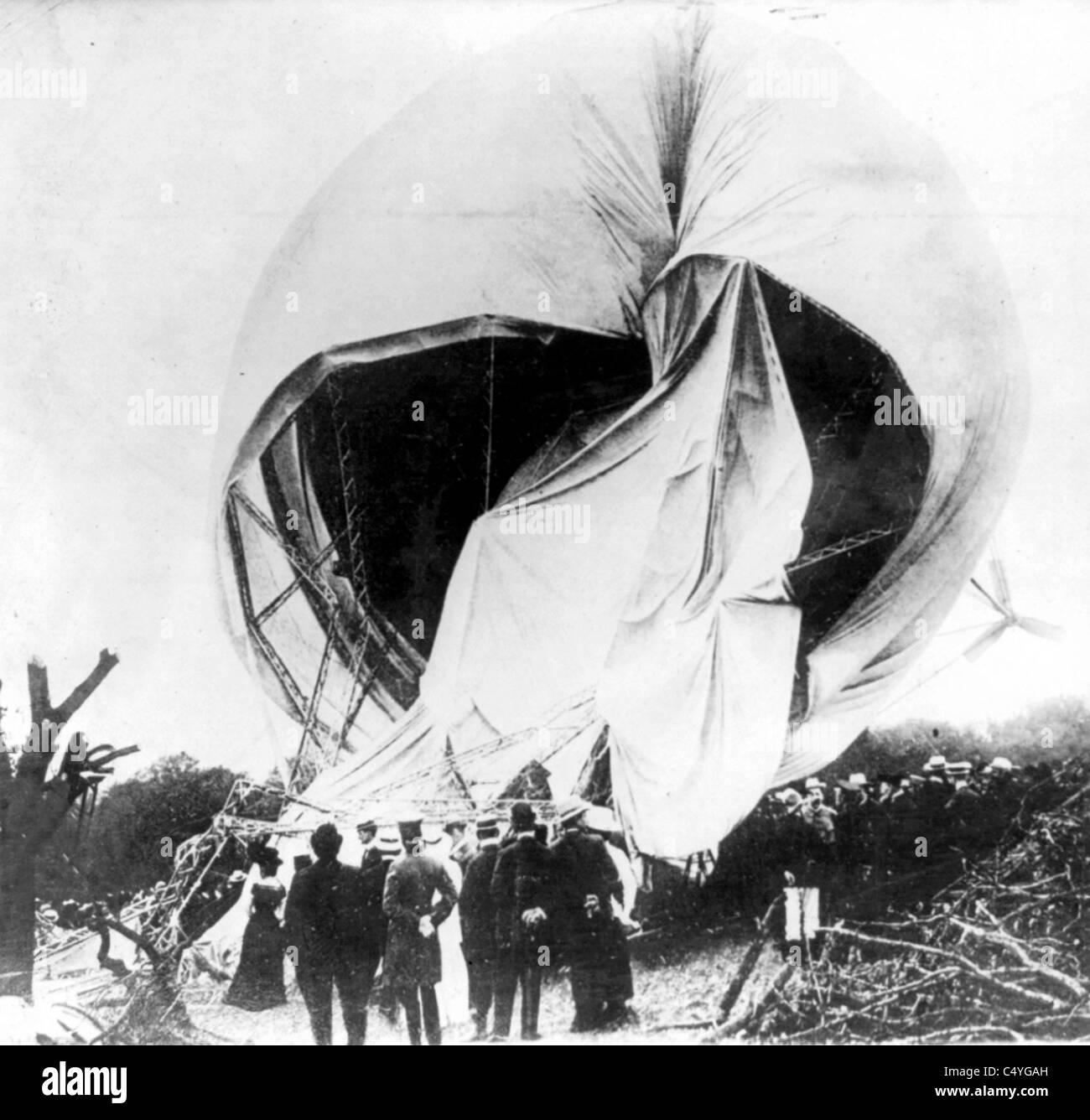Wreck of German airship Stock Photo