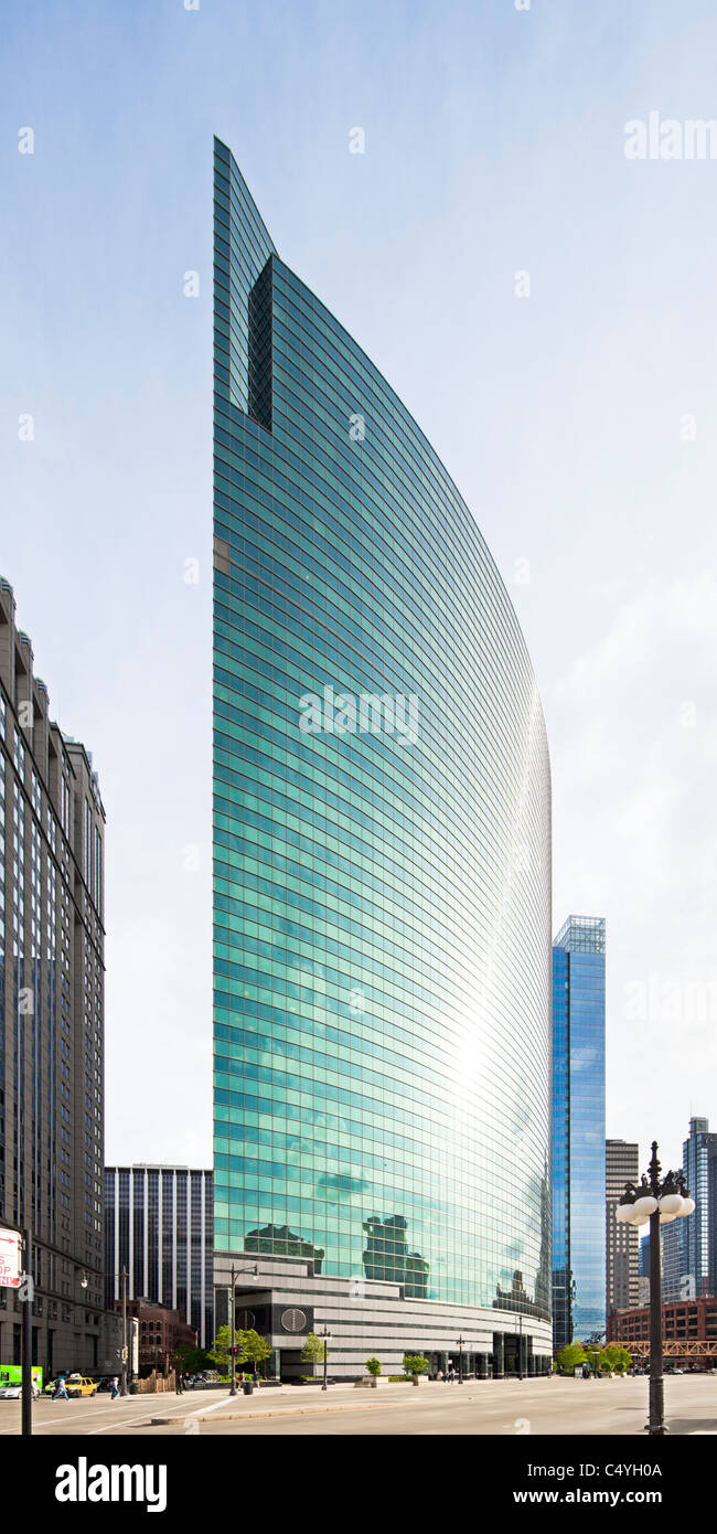 333 West Wacker Drive, Chicago, Illinois - Stock Image