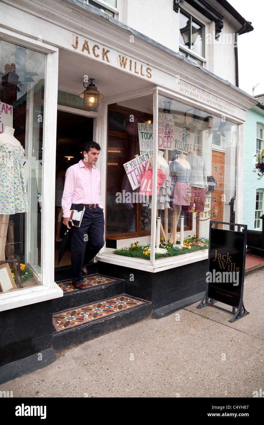 Jack Wills clothes store, High St, Aldeburgh Suffolk UK - Stock Image