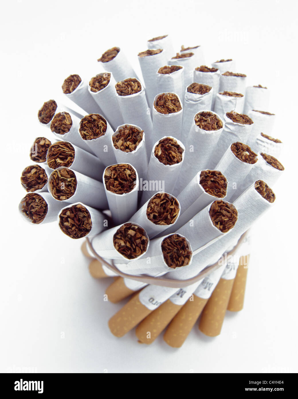 A bundle of brand new tobacco cigarettes - Stock Image