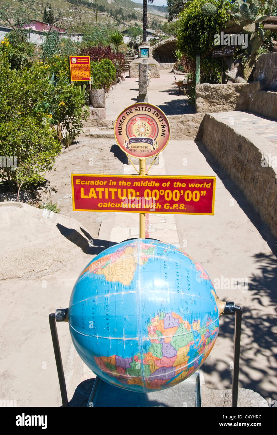 Equator/equatorial monument near Quito Ecuador - Stock Image