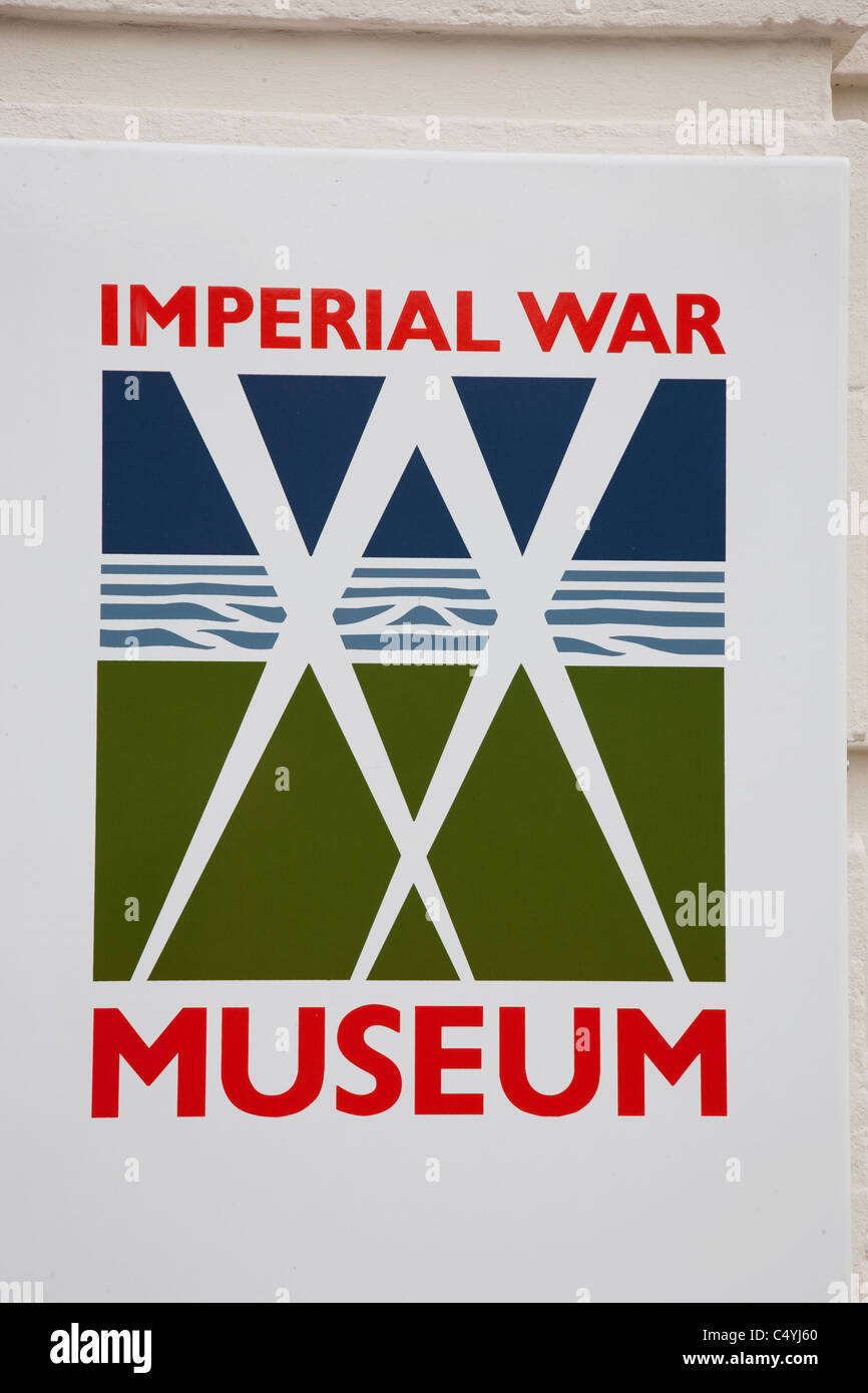 Imperial War Museum Sign in London, England, UK - Stock Image