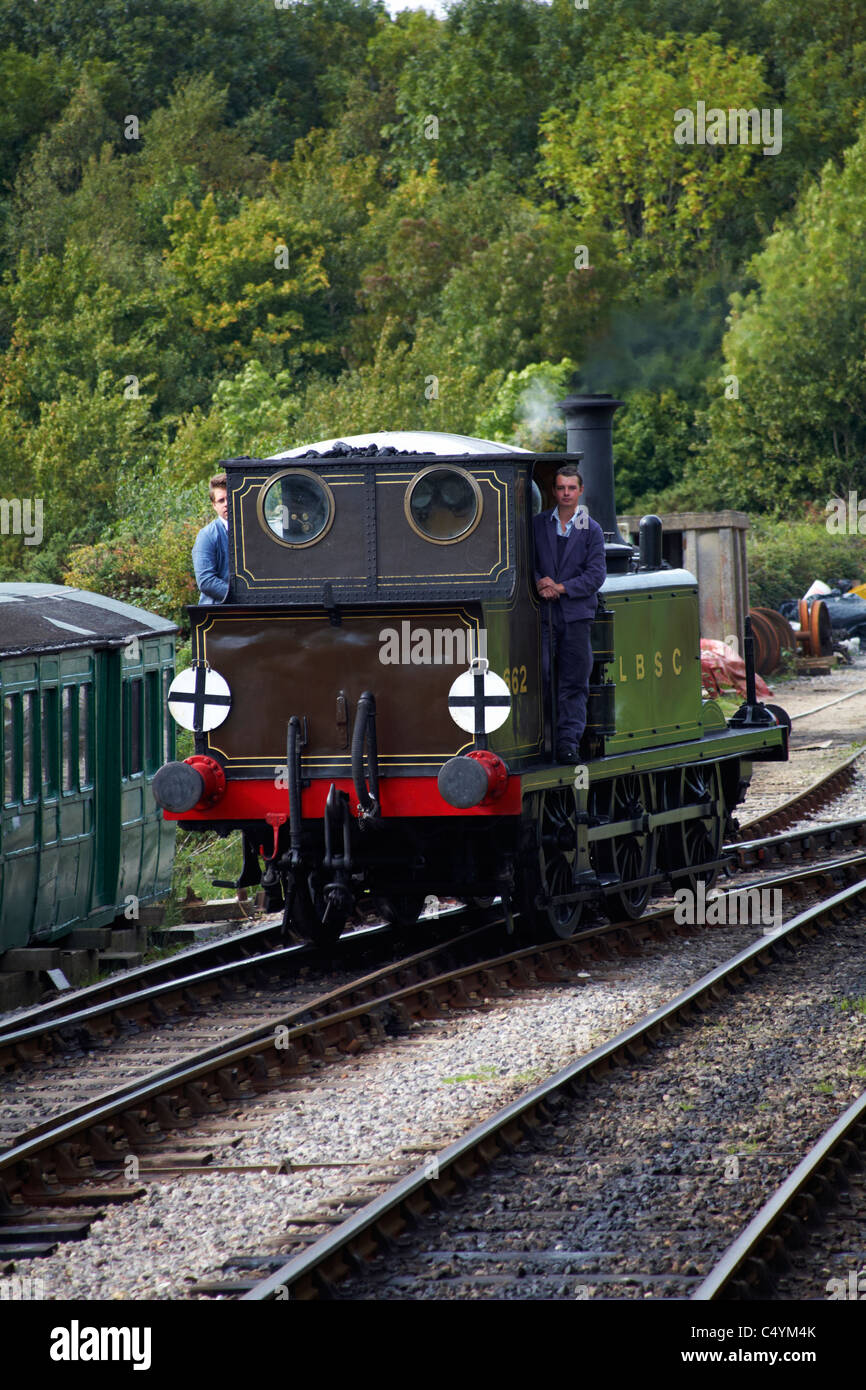 Train engine LBSC 662 Martello reversing to connect to