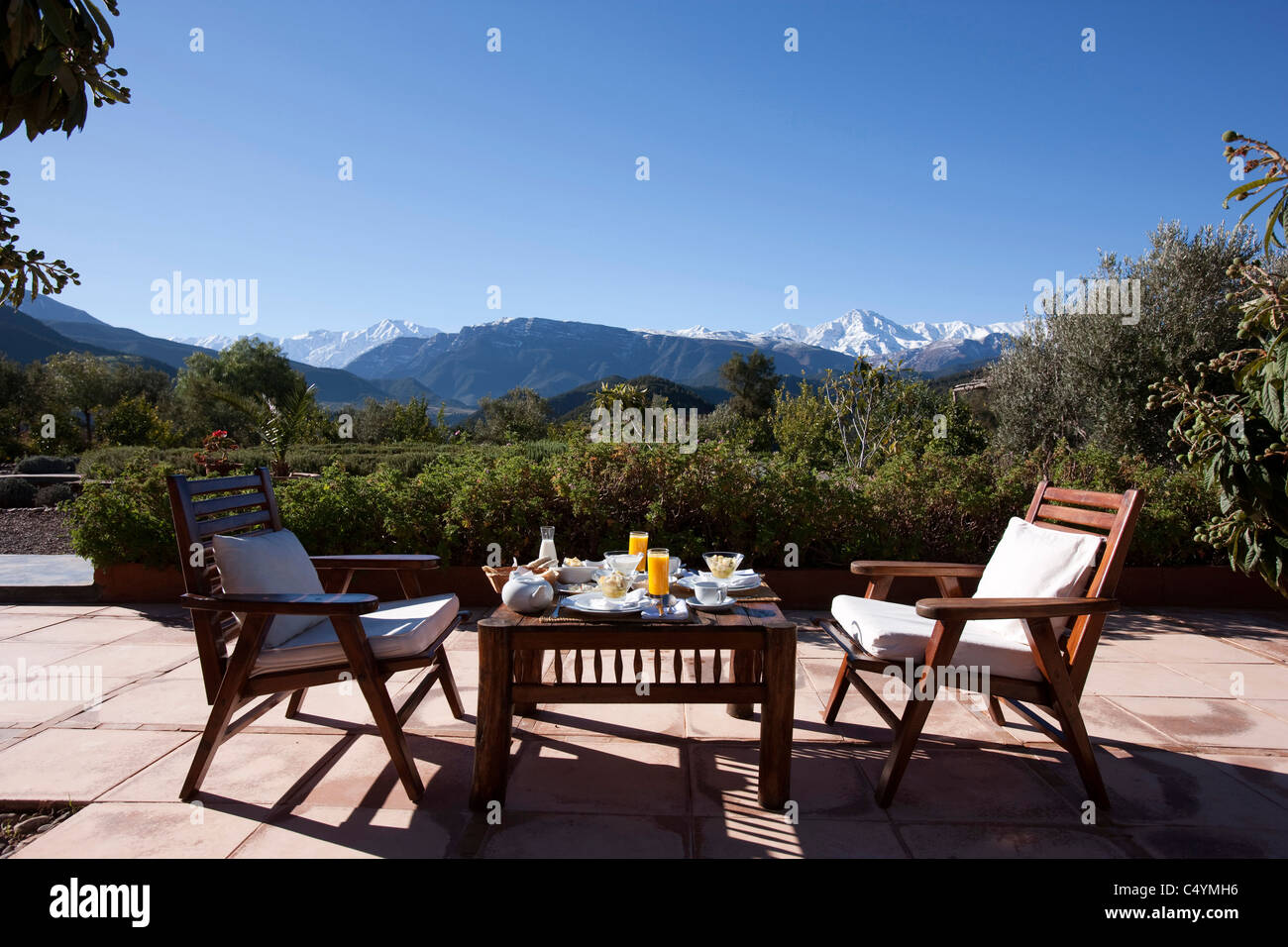 Pleasing Breakfast Under The Atlas Mountains At The Kasbah Bab Ourika Beutiful Home Inspiration Aditmahrainfo