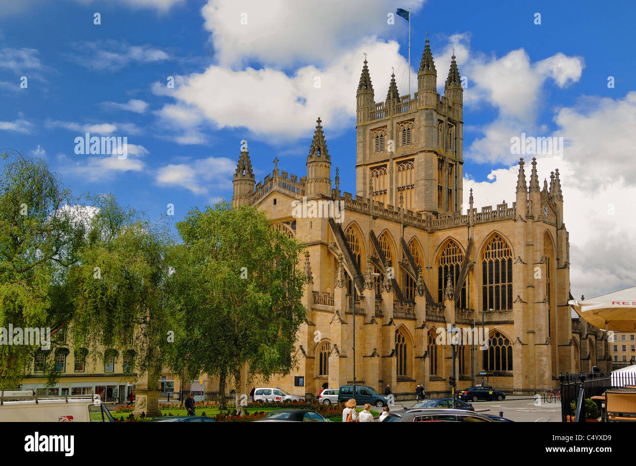 Bath Abbey in the centre of The City of Bath, Somerset, United Kingdom. it was founded in 1499. - Stock Image